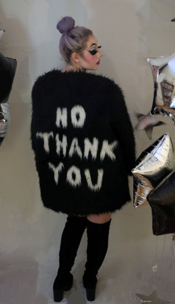 No Thank You faux Fur Jacket