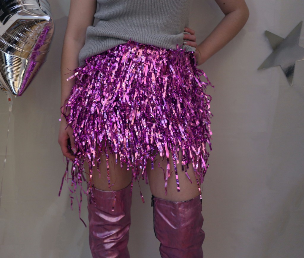 tinsel skirt 1